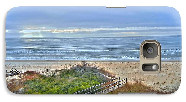 Galaxy Case featuring the photograph Tybee Island Beach And Boardwalk by Donald Williams
