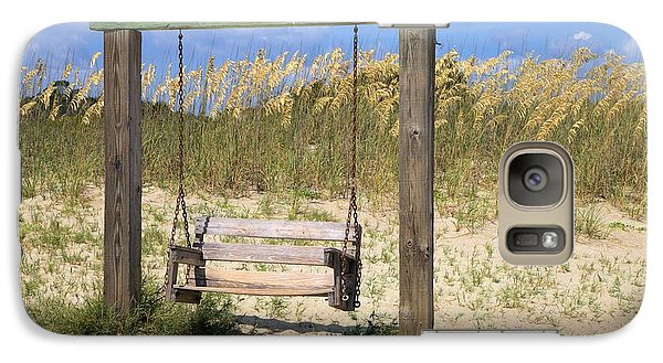 Galaxy Case featuring the photograph Tybee Island Swing by Gordon Elwell