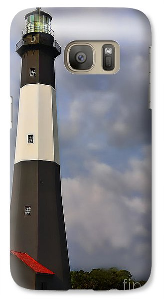 Galaxy Case featuring the painting Tybee Lighthouse by Linda Blair