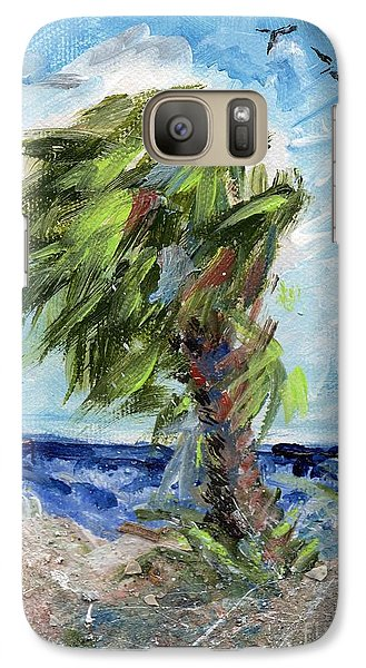 Galaxy Case featuring the painting Tybee Palm Mini Series 1 by Doris Blessington