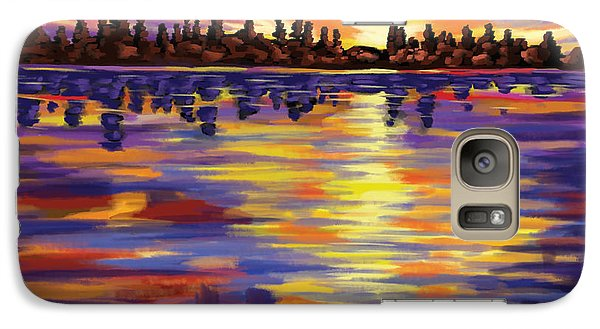 Galaxy Case featuring the painting Tyler's Sunrise by Tim Gilliland