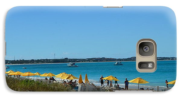 Galaxy Case featuring the photograph Typical Beach Day by Judy Wolinsky