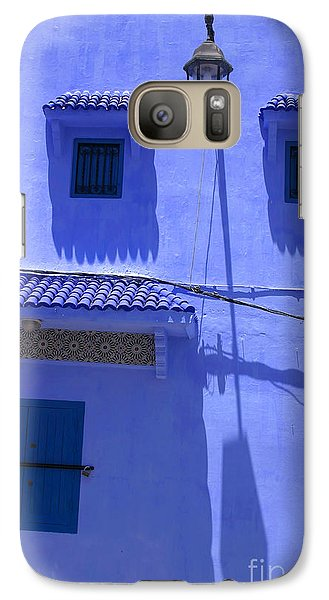 Galaxy Case featuring the photograph Typical Blue Facade In The Medina Of Asilah On Northwest Tip Of Atlantic Coast Of Morocco by Ralph A  Ledergerber-Photography