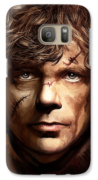 Galaxy Case featuring the painting Tyrion Lannister - Peter Dinklage Game Of Thrones Artwork 2 by Sheraz A