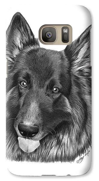 Galaxy Case featuring the drawing Tyson -038 by Abbey Noelle