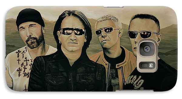 U2 Silver And Gold Galaxy Case by Paul Meijering
