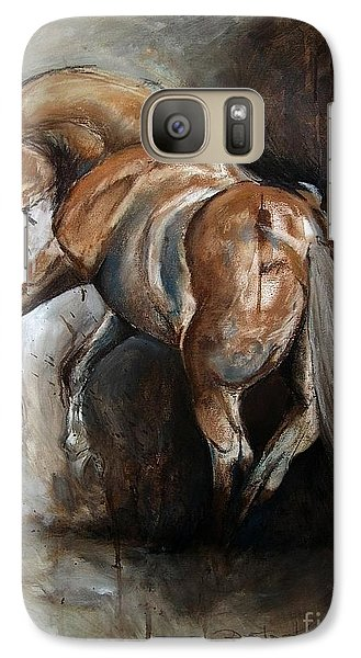 Galaxy Case featuring the painting Ubreakable by Dorota Kudyba