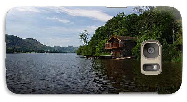 Galaxy Case featuring the photograph Ullswater Boathouse by Graham Hawcroft pixsellpix