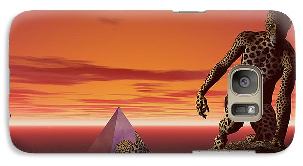 Galaxy Case featuring the digital art Ultimatum - Surrealism by Sipo Liimatainen