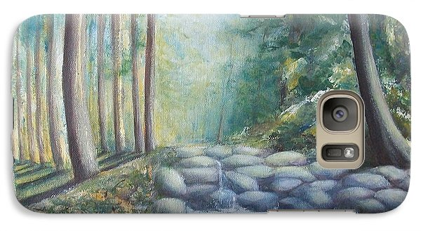 Galaxy Case featuring the painting Ulu Bendul by Jane  See