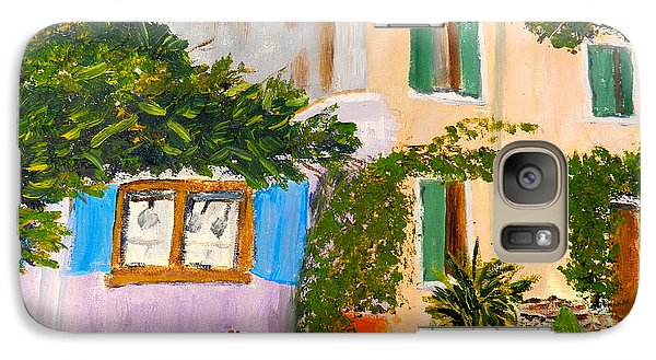 Galaxy Case featuring the painting Umbera Courtyard by Pamela  Meredith