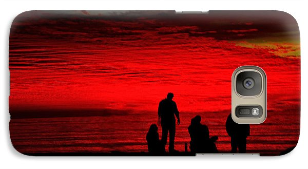 Galaxy Case featuring the photograph Unbelieveable Sunset by Joseph Hollingsworth
