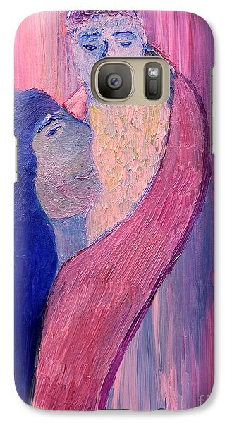 Galaxy Case featuring the painting Unbreakable Bond by Vadim Levin