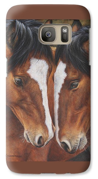Galaxy Case featuring the painting Unbridled Affection by Kim Lockman