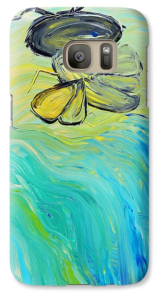 Galaxy Case featuring the painting Uncaged by Lola Connelly