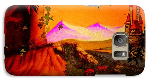 Galaxy Case featuring the painting Unce Upon A Time by Persephone Artworks