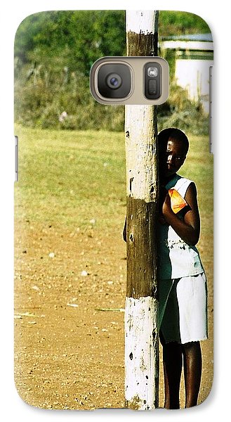 Galaxy Case featuring the photograph Uncertain by Carlee Ojeda