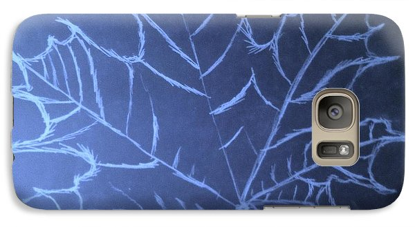 Galaxy Case featuring the drawing Uncertaintys Leaf by Jason Padgett
