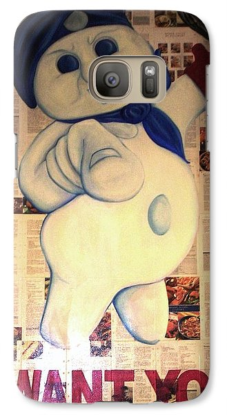 Galaxy Case featuring the painting Uncle Fat Pills by Kristen R Kennedy