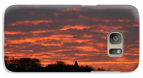 Galaxy Case featuring the photograph Under A Blood Red Sky by Neal Eslinger
