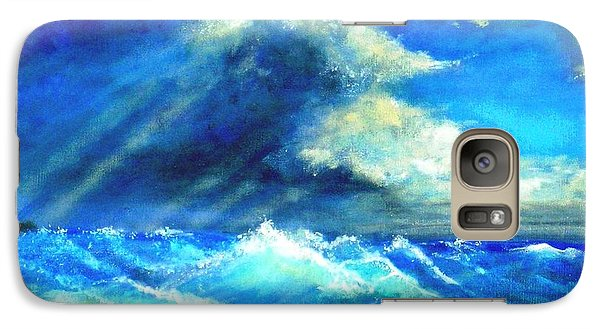 Galaxy Case featuring the painting Under Currents by Marie-Line Vasseur