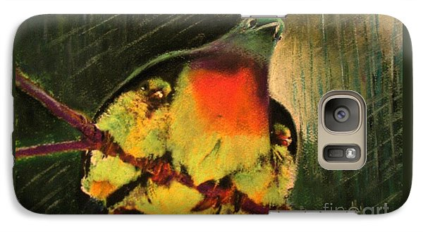 Galaxy Case featuring the painting Under His Wings by Hazel Holland
