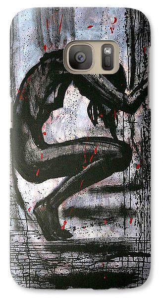 Galaxy Case featuring the painting Under Pressure by Jarmo Korhonen aka Jarko