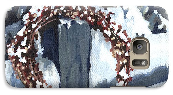 Galaxy Case featuring the painting Under Snow by Natasha Denger