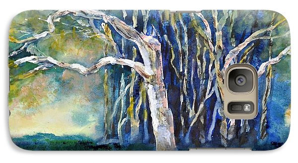 Galaxy Case featuring the painting Under The Banyan Tree by Sally Simon
