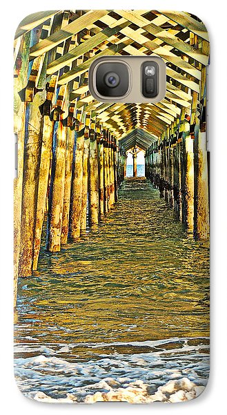 Galaxy Case featuring the photograph Under The Boardwalk - Hdr by Eve Spring