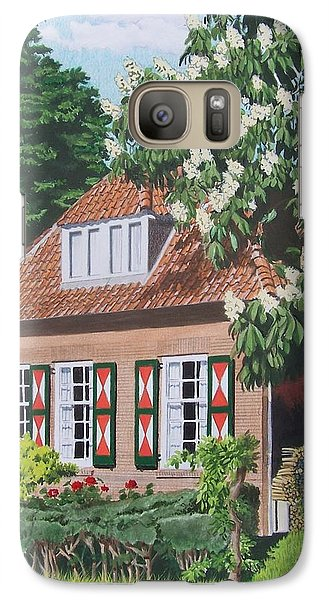 Galaxy Case featuring the mixed media Under The Chestnut Tree by Constance Drescher