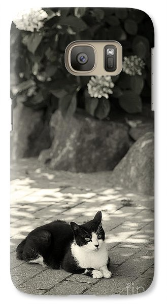 Galaxy Case featuring the photograph Under The Hydrangea by Aiolos Greek Collections