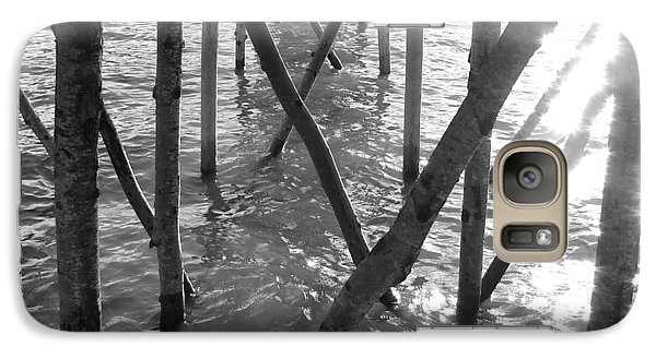 Galaxy Case featuring the photograph Under The Pier by Ramona Johnston
