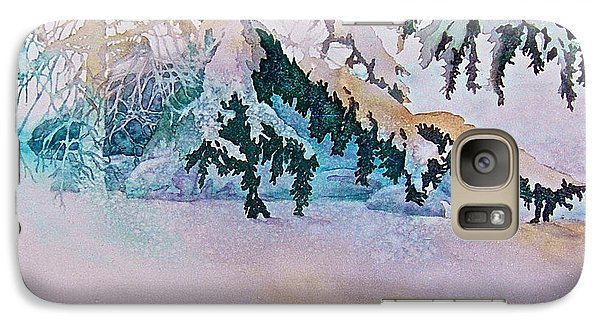 Galaxy Case featuring the painting Under The Pines by Carolyn Rosenberger