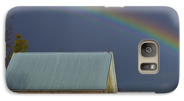 Galaxy Case featuring the photograph Under The Rainbow by Alice Mainville