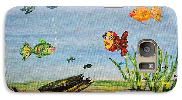 Galaxy Case featuring the painting Under The Sea by Debbie Baker