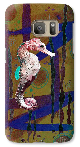 Galaxy Case featuring the mixed media Under The Sea2 by Megan Dirsa-DuBois