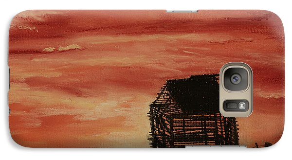 Galaxy Case featuring the painting Under The Sunset by Stanza Widen