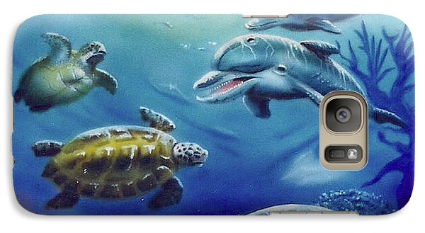 Galaxy Case featuring the painting Under Water Antics by Thomas J Herring