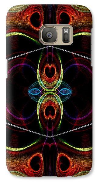 Galaxy Case featuring the digital art Underneath It All by Owlspook