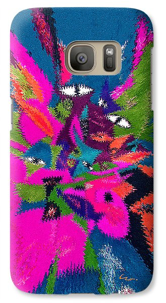 Galaxy Case featuring the mixed media Underwater Feline by Carl Hunter