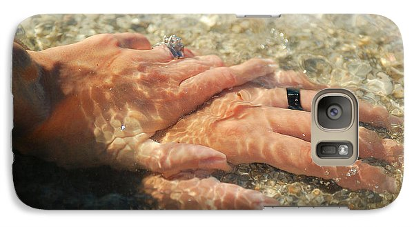 Galaxy Case featuring the photograph Underwater Hands by Leticia Latocki