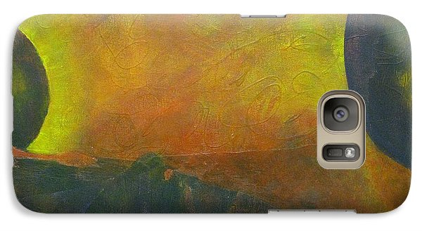 Galaxy Case featuring the painting Underworld by Riana Van Staden