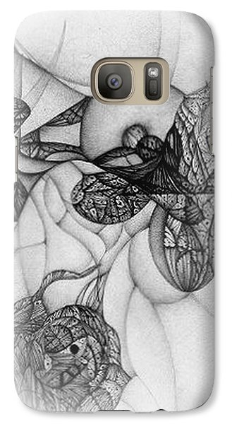 Galaxy Case featuring the drawing Undesignated Ballpoint Image Number 7 by Jack Dillhunt
