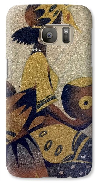 Galaxy Case featuring the photograph Une Bonne Mere - A Good Mother by Fania Simon