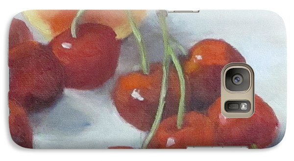 Galaxy Case featuring the painting Unexpected Company by Cheri Wollenberg