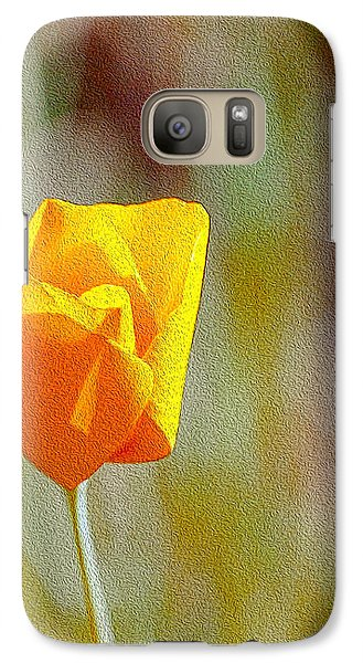 Galaxy Case featuring the photograph Unfolding Poppy by William Havle