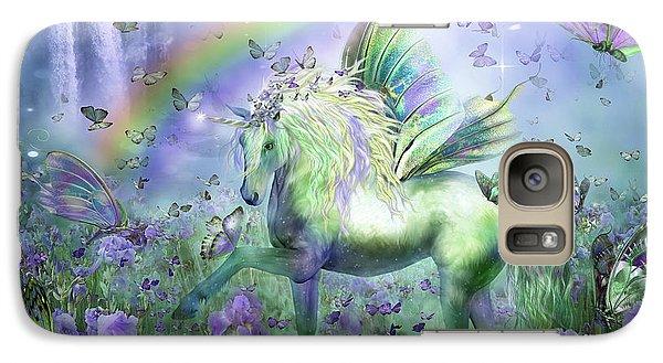 Unicorn Of The Butterflies Galaxy S7 Case by Carol Cavalaris