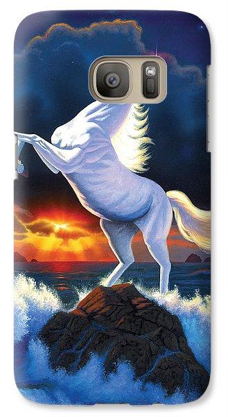 Unicorn Raging Sea Galaxy S7 Case