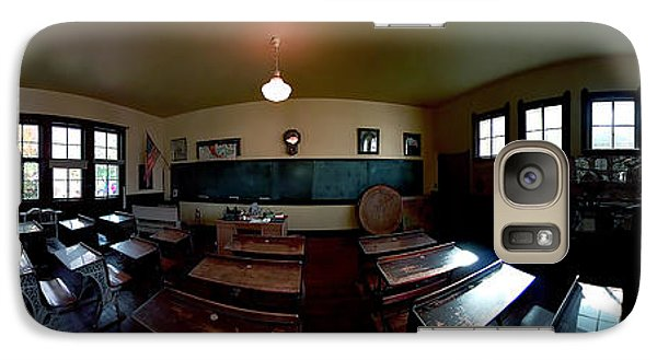 Galaxy Case featuring the photograph Union  Illinois One Room School House by Tom Jelen